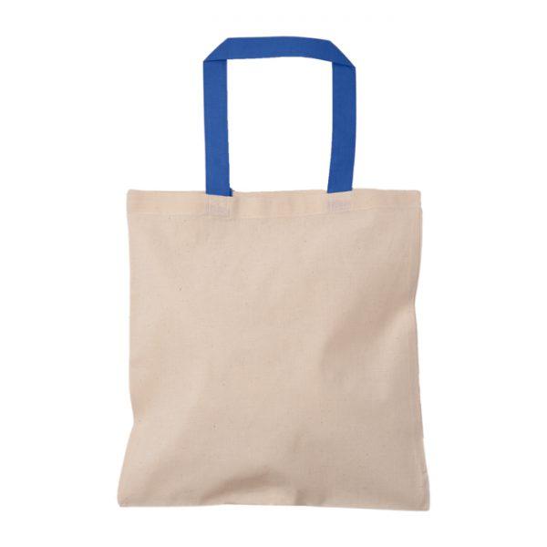 mavi kulplu baskısız bez çanta