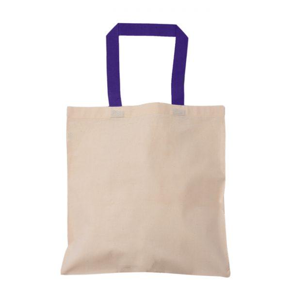 mor kulplu baskısız bez çanta