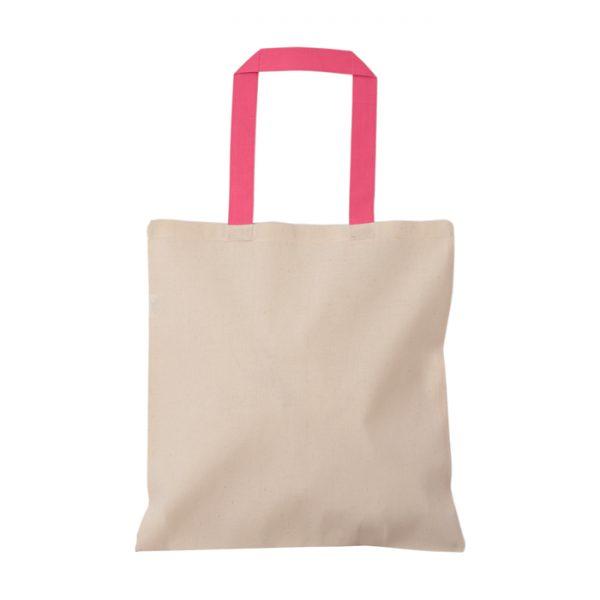 pembe kulplu baskısız bez çanta