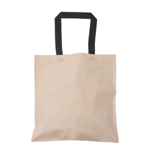 siyah kulplu baskısız bez çanta
